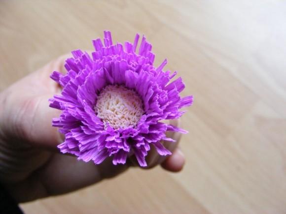 фото гофрированных цветов своими руками