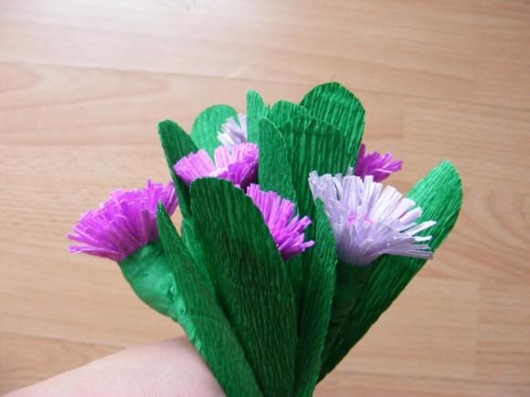фото цветов из гофрированной бумаги