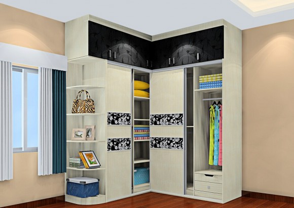 3D-bedroom-curtains-and-corner-wardrobe