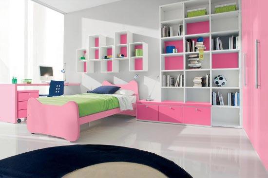 pink-bedroom-wall-shelves
