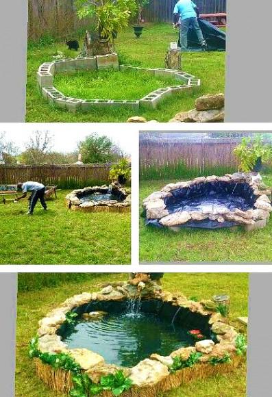 Как своими руками сделать пруд во дворе