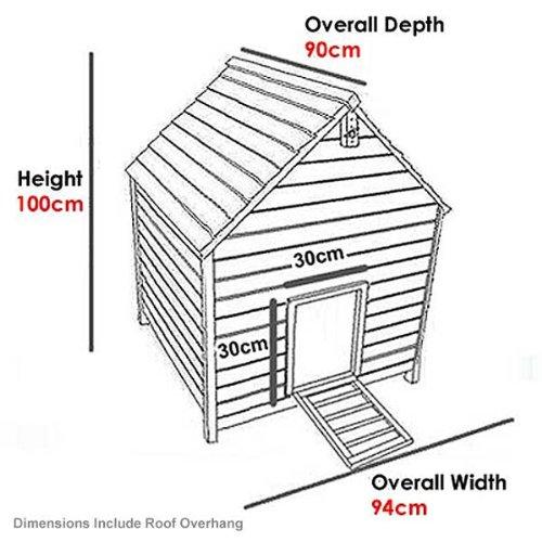 FeelGoodUK-Poulailler-Tiroir-à-déjections-et-toit-4-positions-Large-5