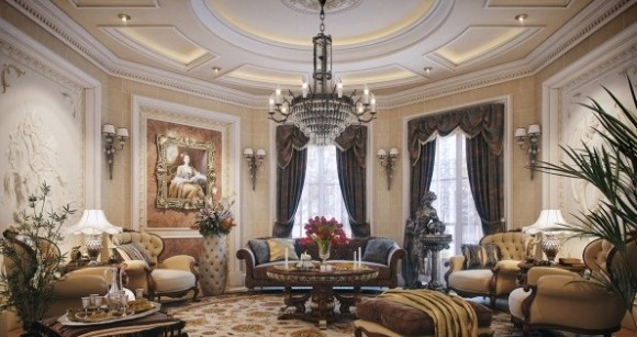 Bautiful Classic Living Room Style Luxury Villa in Qatar