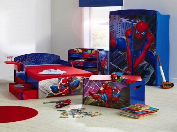 boys-room-spiderman-theme-bed-and-cupboard.jpg-800x600