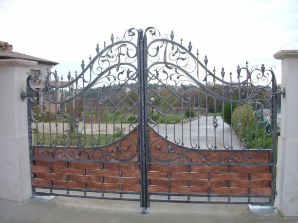 cancello-ferro-battuto-rame