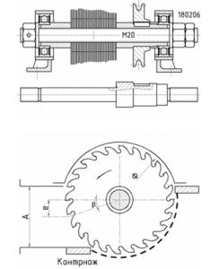 shema-rezhuschego-elementa-na-osnove-diskovyh-pil-244x300